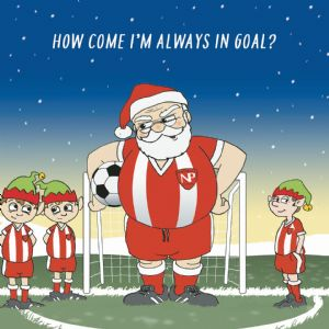 CANX47  Always In Goal Humour Christmas Card